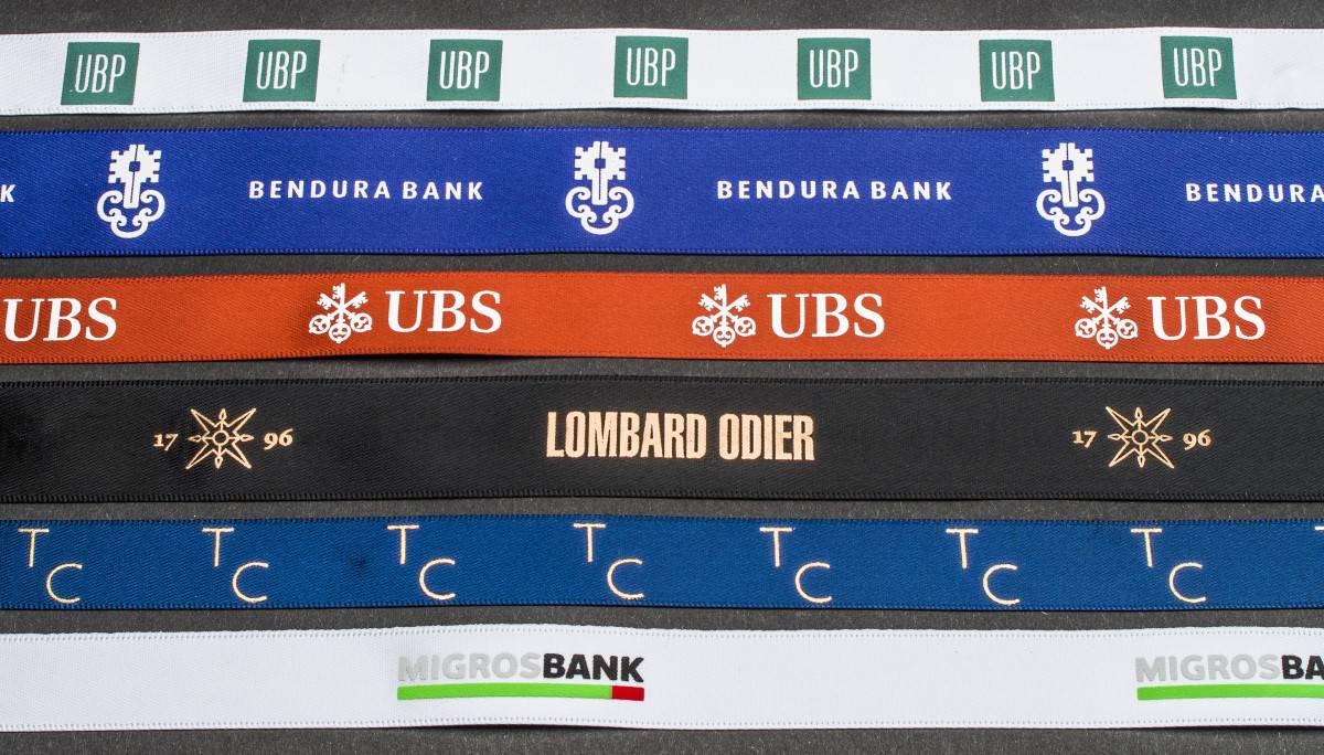 bedrucktes Band für Bank