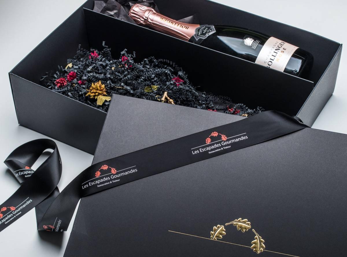 Geschenkverpackung Champagner